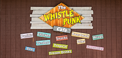 Image of the Whistle Punk Cafe sign