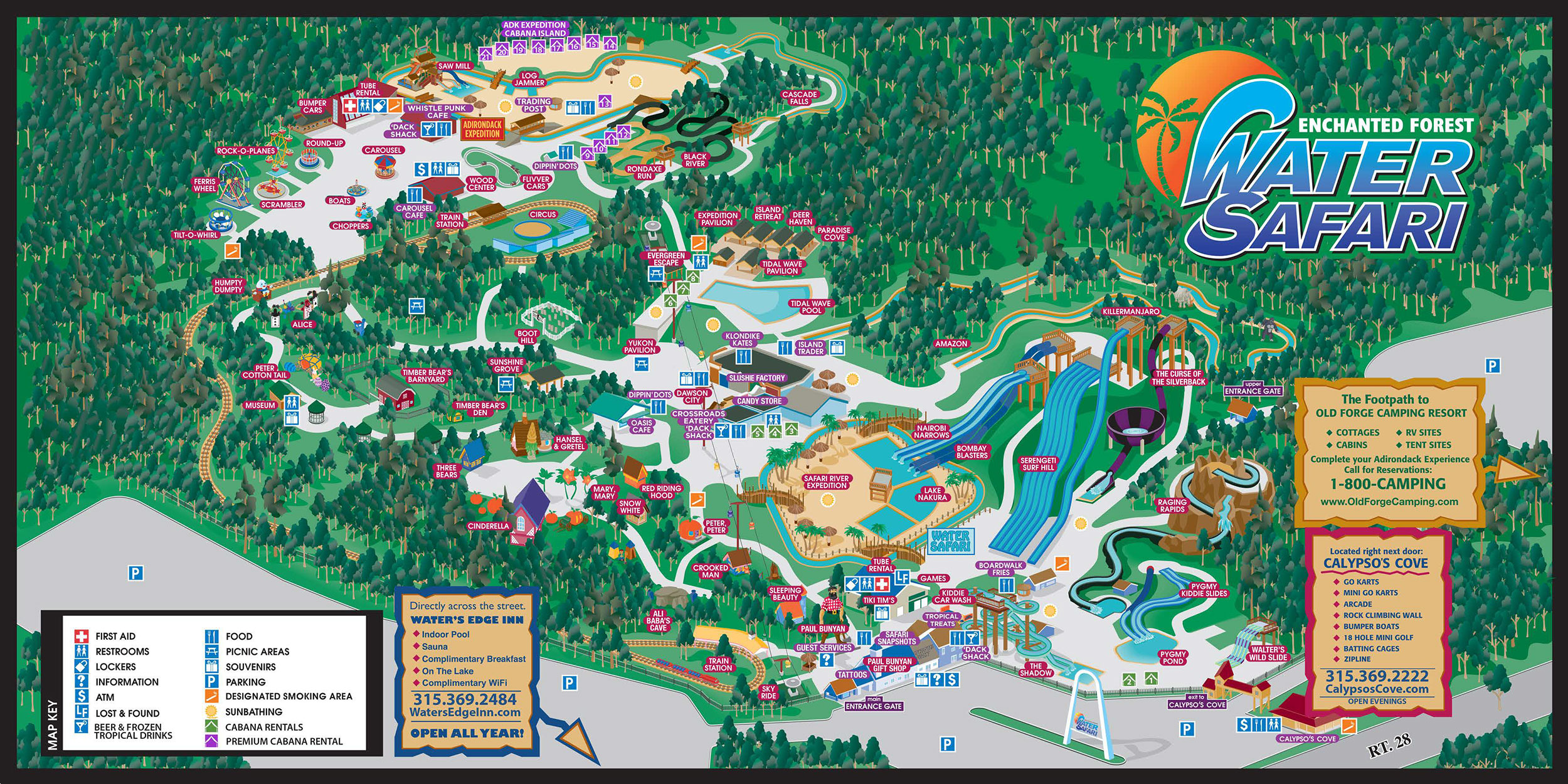 Interactive Park Map - Enchanted Forest Water Safari on