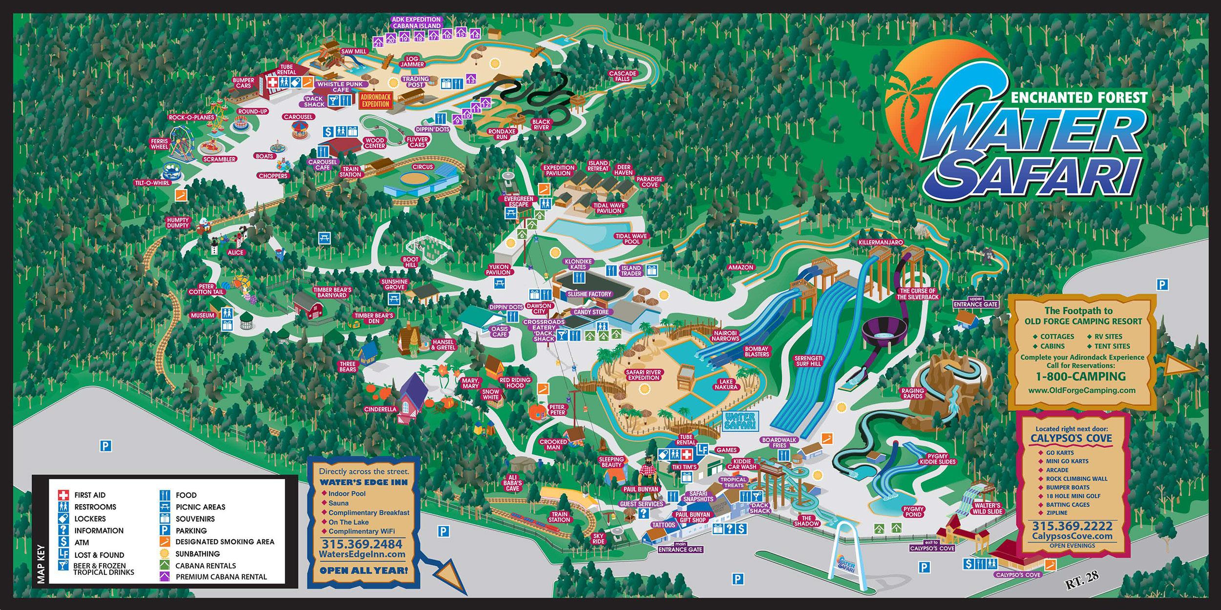 Interactive Park Map - Enchanted Forest Water Safari on malaysia map, thailand map, disneyland map, bangkok map, lumpini park map, amusement park map, erawan shrine map, drayton manor theme park map, cambodia map, zoo map, singapore map,